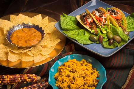 メキシコ ディナー各種 写真素材