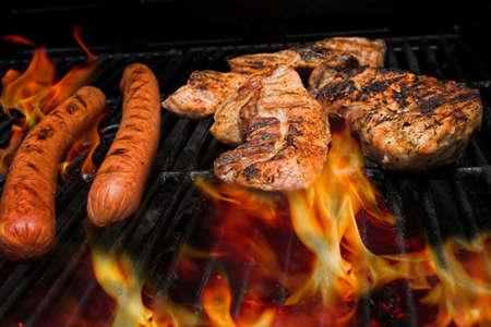 バーベキュー グリルの肉