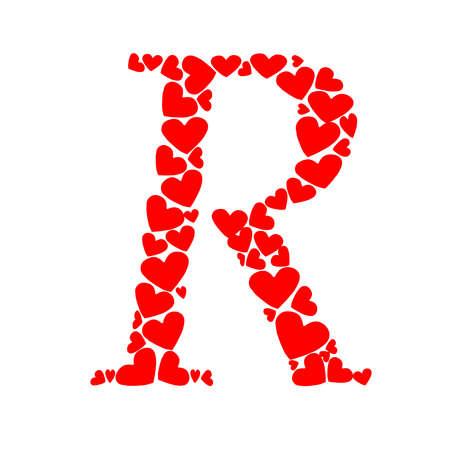 letter R heart Illustration