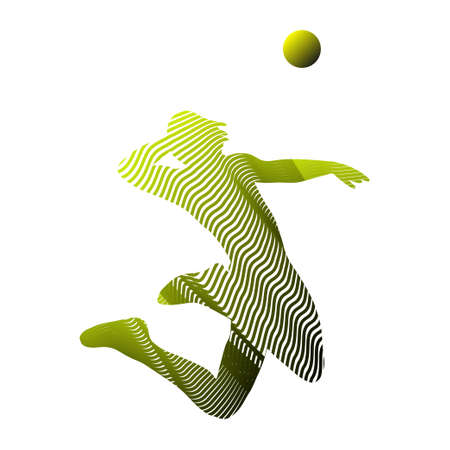 Volleyball player abstract illustration Иллюстрация