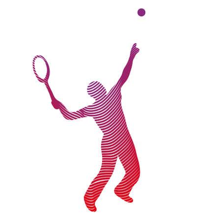 Tennis player drawing