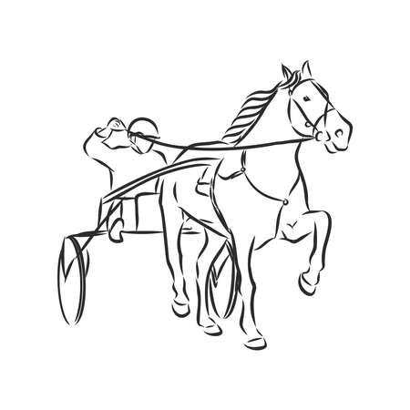 Vector illustration of a racing horse and jockey Vektorové ilustrace