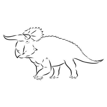 illustration of Dinosaur, vector sketch Illusztráció