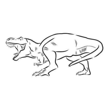 Ilustración de dinosaurio, dibujo vectorial Ilustración de vector