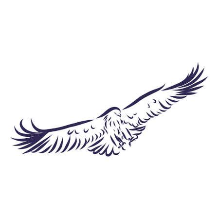 Eagle - hand drawn vector llustration realistic sketch illustration Vector Illustratie