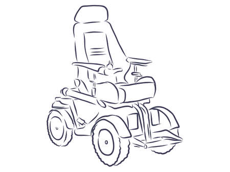 Design concept set of electric wheelchair, manual wheelchair and disabled carriage icons. Can use for website and mobile website and application. Vector illustration with background. Illustration