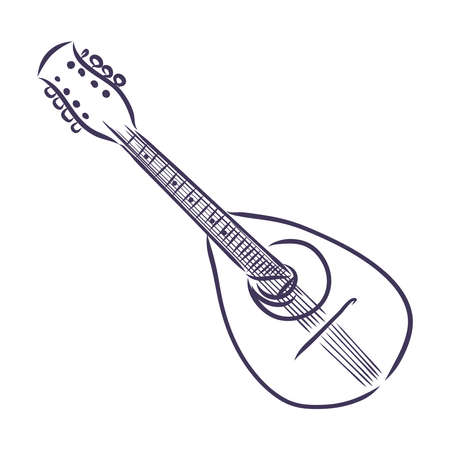 Dombra. National instrument icon.