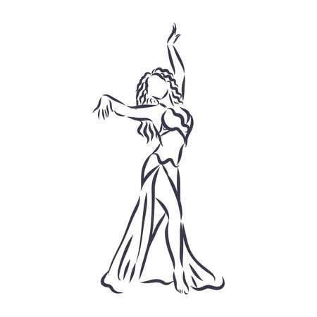 Arabian oriental belly dance