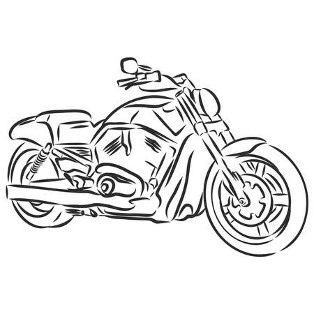 Hand draw style of a vector new motorcycle illustration