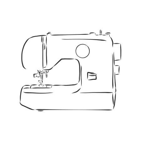 Illustration der isolierten Nähmaschine auf weißem Hintergrund