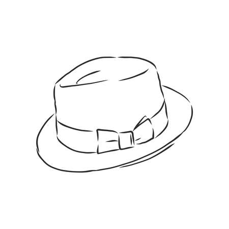 hat vector illustration sketches template. hat, vector sketch Illustration