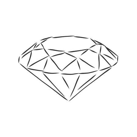 Sketch pencil. Diamond, diamond vector sketch illustration