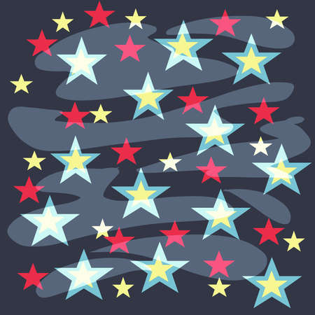 flat background with stars vector illustration