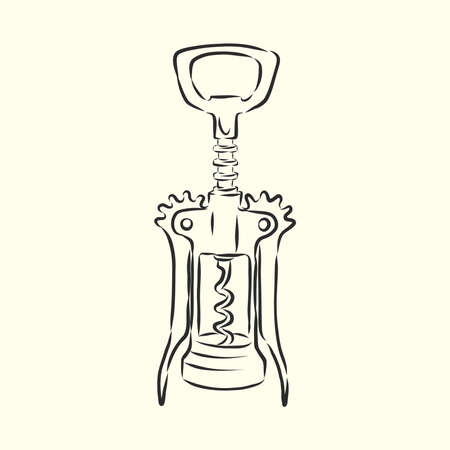 Image of classic corkscrew. Doodle style