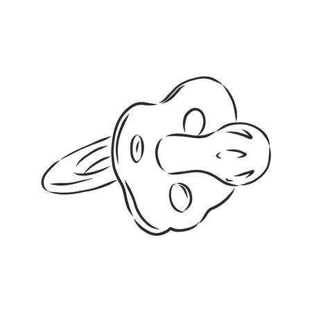 Baby dummy sketch vector illustration