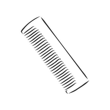 illustration of brush on white