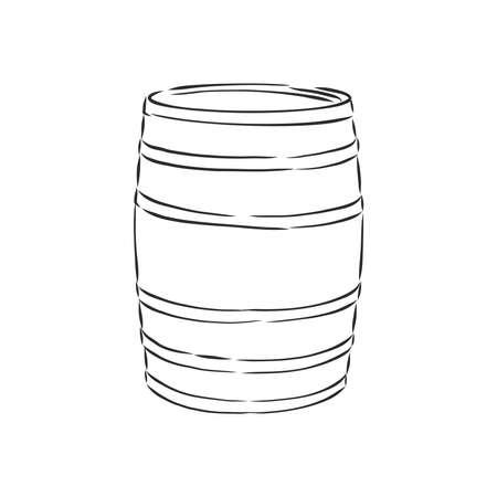 barrel, wine, element for design hand drawing vector