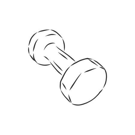 Sketch dumbbell weight. dumbbells, vector sketch illustration Ilustracja
