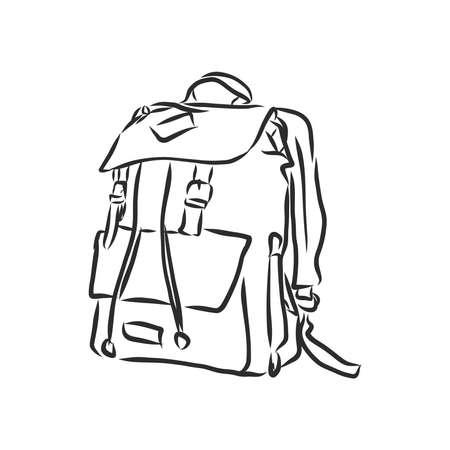 sketch illustration backpack. Imagens - 153085136