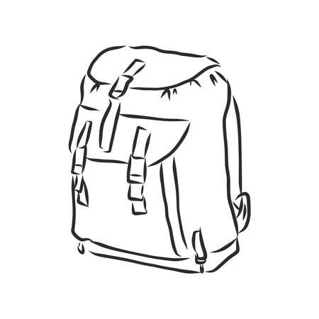 sketch illustration backpack.