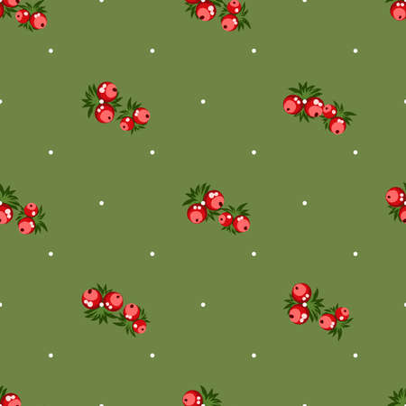 Seamless pattern of berries, flowers . Hand drawn floral ornament. Design for textile, paper, packaging, bedding from colorful doodle elements in folk style. Imagens - 153085779