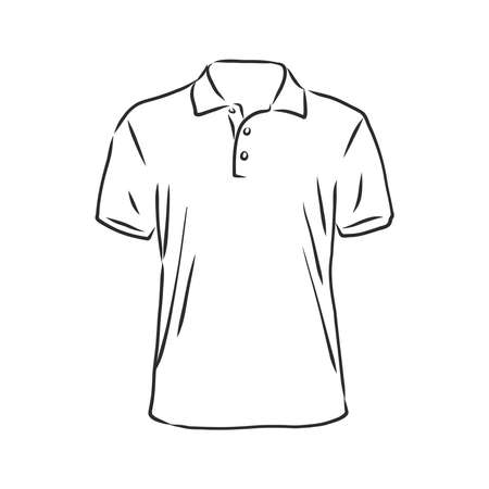 Polo shirt vector sketch icon isolated on background. Hand drawn Polo shirt icon. Polo shirt sketch icon for infographic, website or app.
