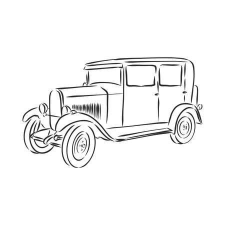 retro car vector   design template. transport or vehicle icon. retro car vector sketch illustration
