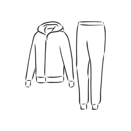 tracksuit vector sport fashion garment man