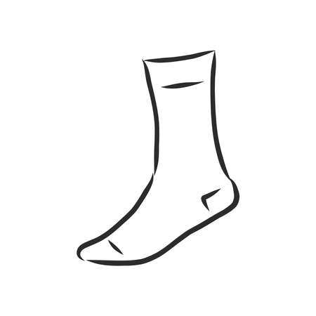 Socks sketch icon for web, mobile and infographics. Hand drawn Socks icon. Socks vector icon. Socks icon isolated on white background.