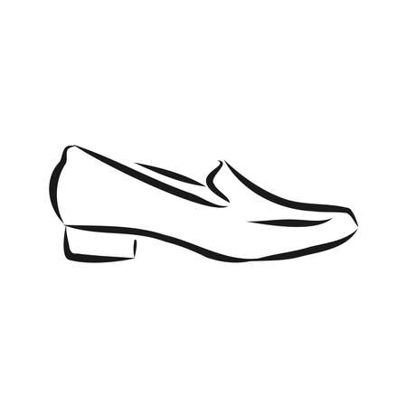 Woman's shoe, vector sketch women's Shoe, vector sketch illustration