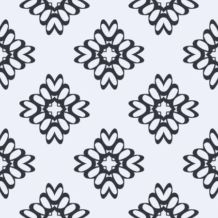 Indigo blue hand drawn seamless pattern