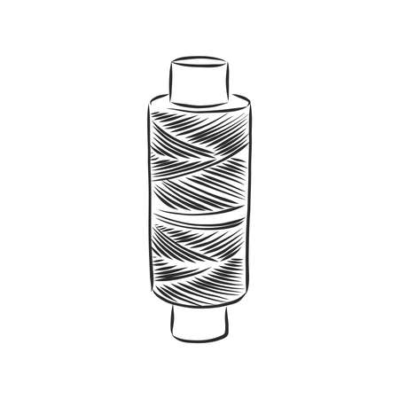vector illustration of hand drawn spool with thread Illustration