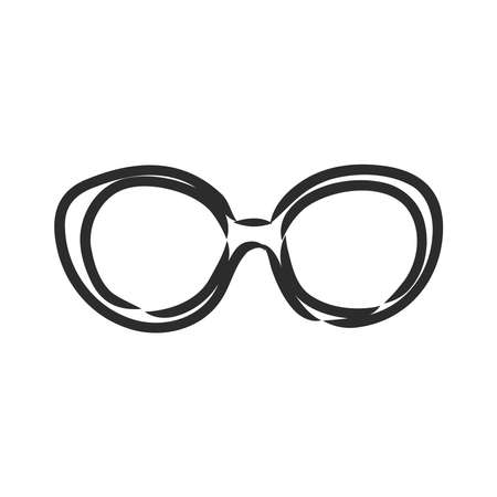 Glasses sunglasses vector hand drawn illustration black lines Ilustração