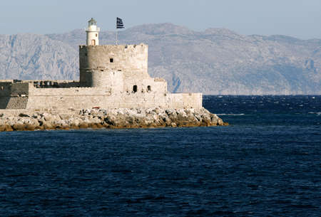 St. Nicholas Fortress and lighthouse of Rhodes photo