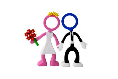 just-married couple dolls  Stock Photo - 5943319