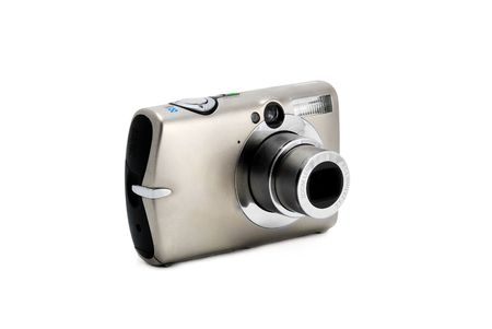 compact photo camera isolated over white Stock Photo - 6063040