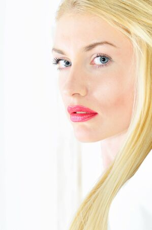 studio portrait of beautiful blond woman  Stock Photo - 13001299