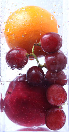Include fruits in water photo