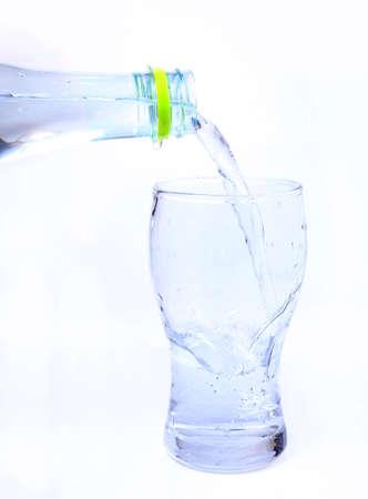 agua potable: vaso de agua potable