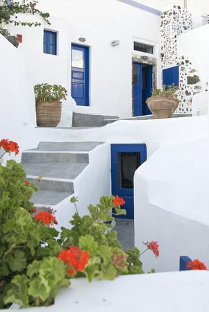 greek pot: Tipica casa greco