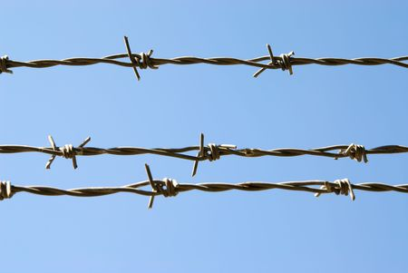 keepout: Barbed wire Stock Photo