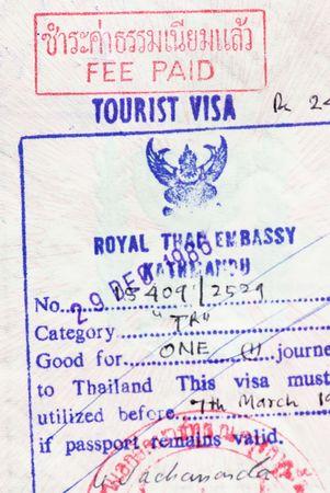 Tourist visa to Thailand photo