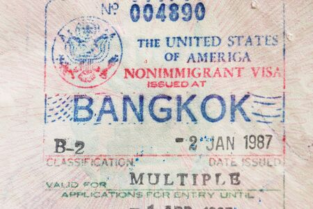 unites: Visa to the Unites States issued in Bangkok