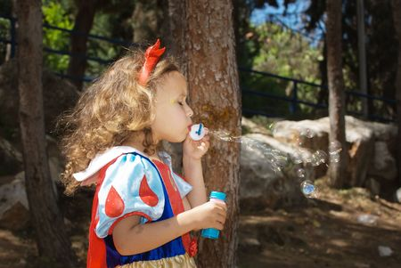 Blowing bubbles Stock Photo - 2809173