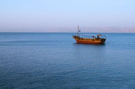 Boot auf dem See von Galil�a Lizenzfreie Bilder