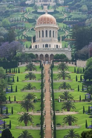 bahaullah: The garden and temple of Bahai in Haifa Stock Photo