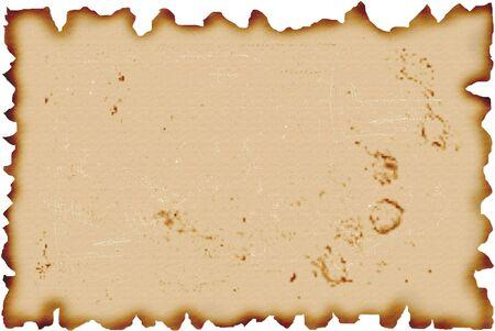 burnt edges: Letter paper with burnt edges