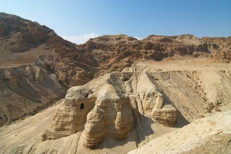 H�hlen von Qumran, wo die Schriftrollen vom Toten Meer, wo entdeckt