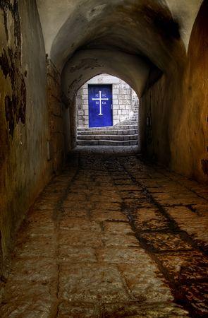 Licht im Tunnel, verarbeitet Hdr-Bild  Lizenzfreie Bilder