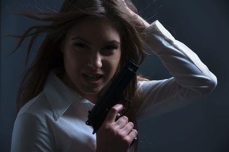 Dangerous woman in the dark Stock Photo - 4207654